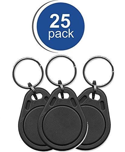 25 RapidPROX Proximity Key Fobs for Access Control. Standard 26Bit (H10301) (Maxiprox Reader)