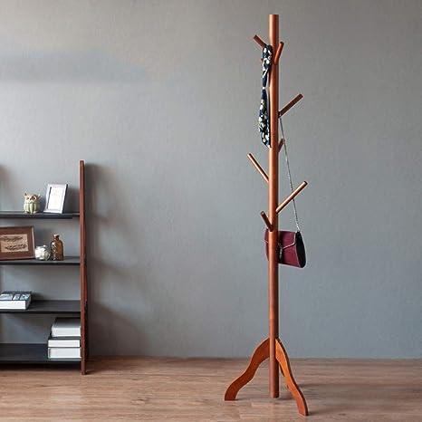 Amazon.com: DWW - Perchero vertical de madera, perchero de ...