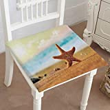Mikihome Chair Pads Classic Design Depositphotos stockstarfish Beach Cotton Canvas Futon 32''x32''x2pcs