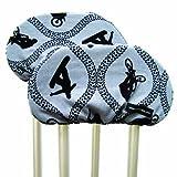 Crutch Caps Adults Underarm Crutch Pads, Black/White, Zebra, Large