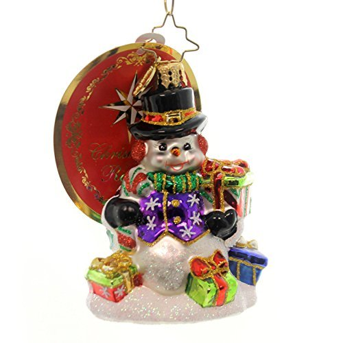 Christopher Radko Snow Drift Gifts Gem Glass Christmas Ornament by Christopher Radko