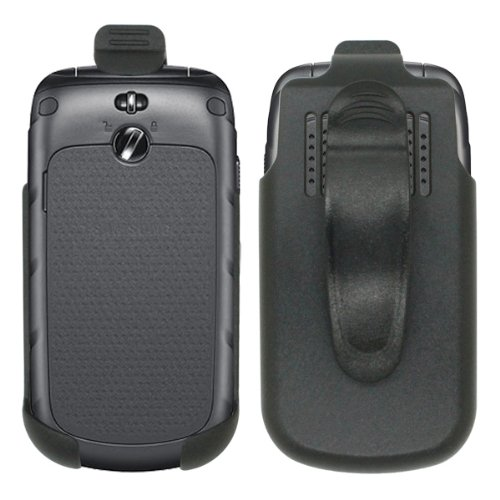 Cbus Wireless Black Holster Case w/ Ratcheting Belt Clip for Samsung Rugby III / A997