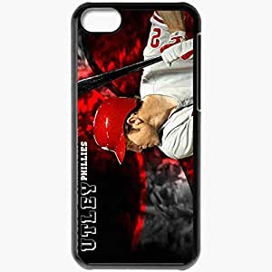 Personalized iPhone 5C Cell phone Case/Cover Skin 15053 Philles Chase Utley by cohnbc Black