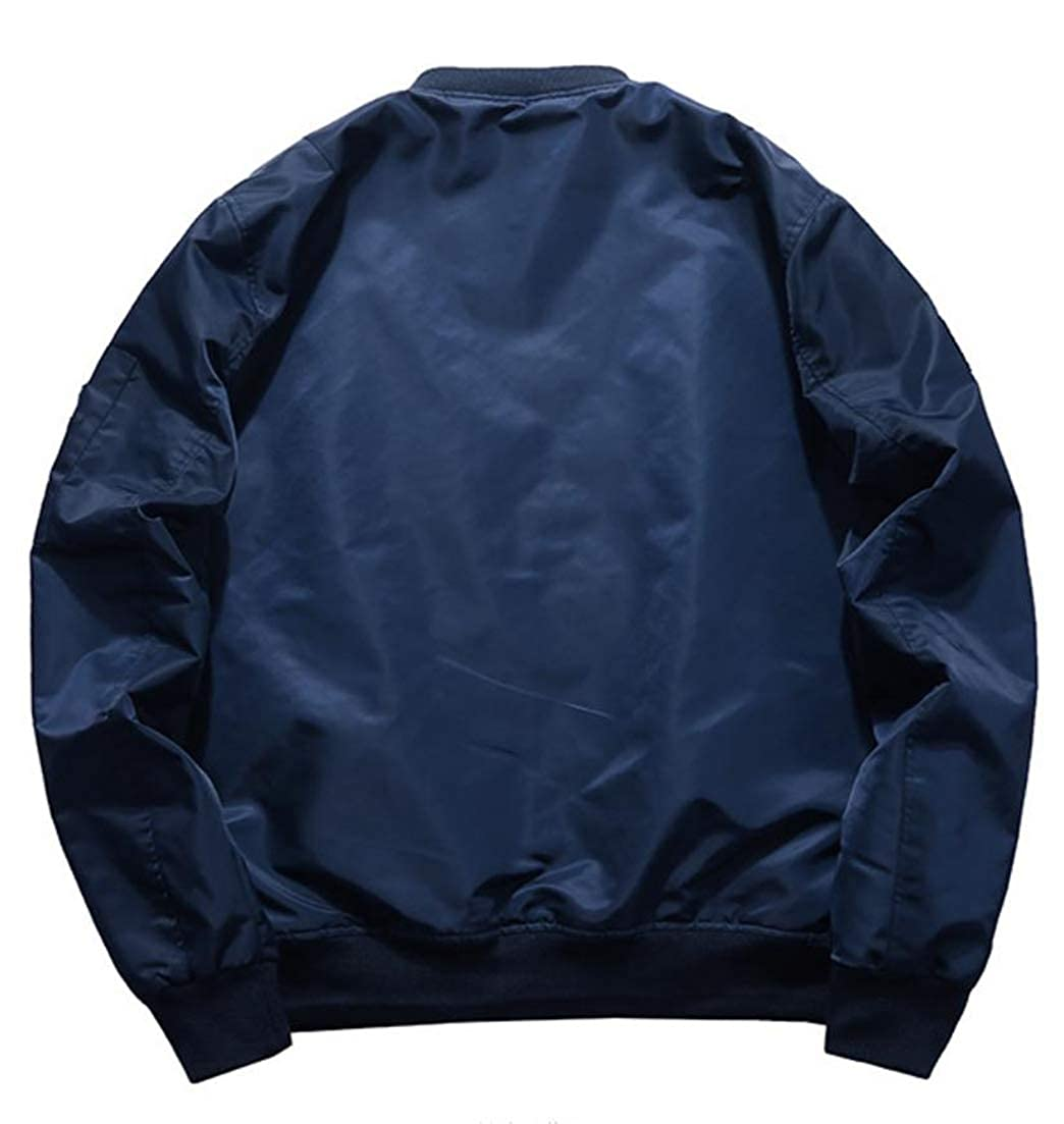 Conffetti Mens Autumn Winter Outerwear Quilted Vogue Parkas Flight Baseball Jacket