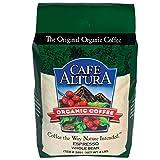 Cafe Altura Whole Bean Organic Coffee, Espresso Roast, 4 Pound