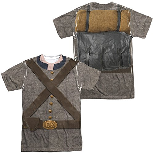 A&E Designs Confederate Soldier Halloween Costume T-Shirt Front & Back, 3XL Multicolored]()
