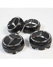 para Mercedes-Benz 4 Pieza AMG radnabenabdeckung Negro Mate Estrella Buje Tapa 75 mm Buje
