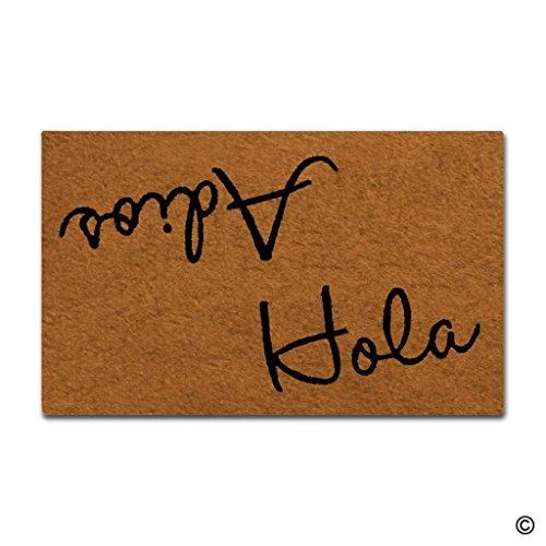 Cheap  MsMr Door Mat Entrance Mat Funny Door Mat Hola Adios Non-slip Doormat..
