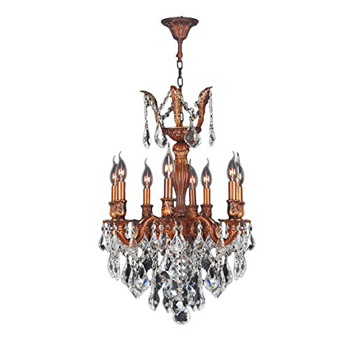 Worldwide Lighting W83334FG19-CL Versailles Collection 8 Light French Gold Finish (Versailles Collection Chandelier)