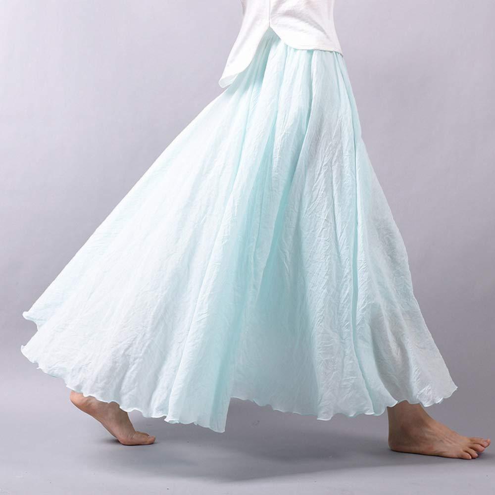 HEHEAB Falda,Ropa De Mujer Azul Cielo, Faldas Largas Cintura ...