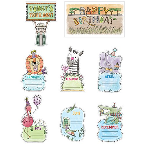 Creative Teaching Press Mini Bulletin Board Safari Friends Happy Birthday  Ctp 2179 with
