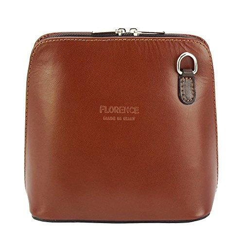 Florence Small Market Leather Shoulder Bag And Crossbody 201 Braun / Dunkelbraun