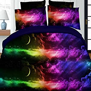 Sky 3D creative bed sheet quilt duvet cover bedding,King,N