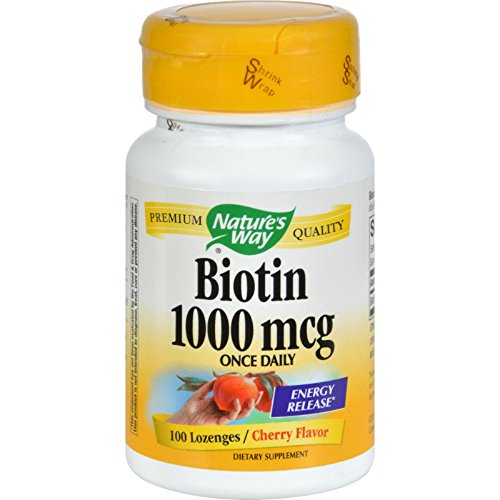 Nature's Way Biotin - 1000 mcg - 100 Lozenges