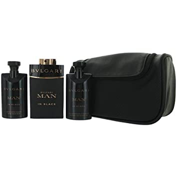 9e07984ccd9a Amazon.com   Bvlgari 4 Piece Man In Black Eau de Parfum Spray Gift Set for  Men   Beauty