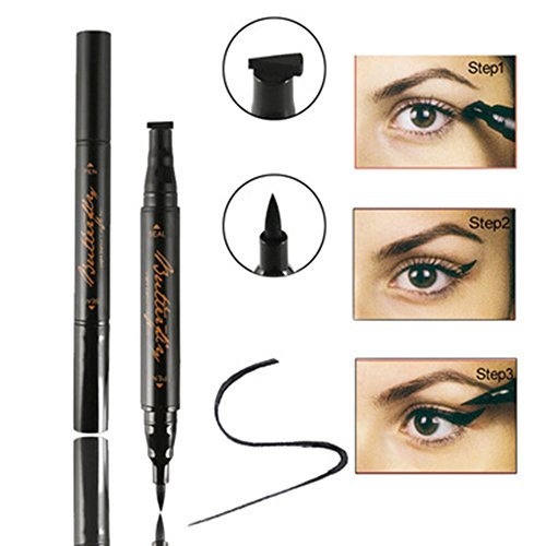 Easy Cat Makeup (Eyeliner Stamp, Waterproof Eye Liquid Eyeliner Pen Easy to Makeup Tool Cat Eye Wing Eyeliner Stamps Set)