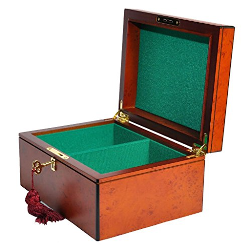 Luxe Premium Chess Box - Elm Burl - by The House of Staunton ()
