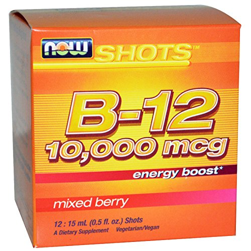 Now Foods - Shots B-12 Energy Boost 12 x .5 oz. Shots Mixed Berry by NOW Foods