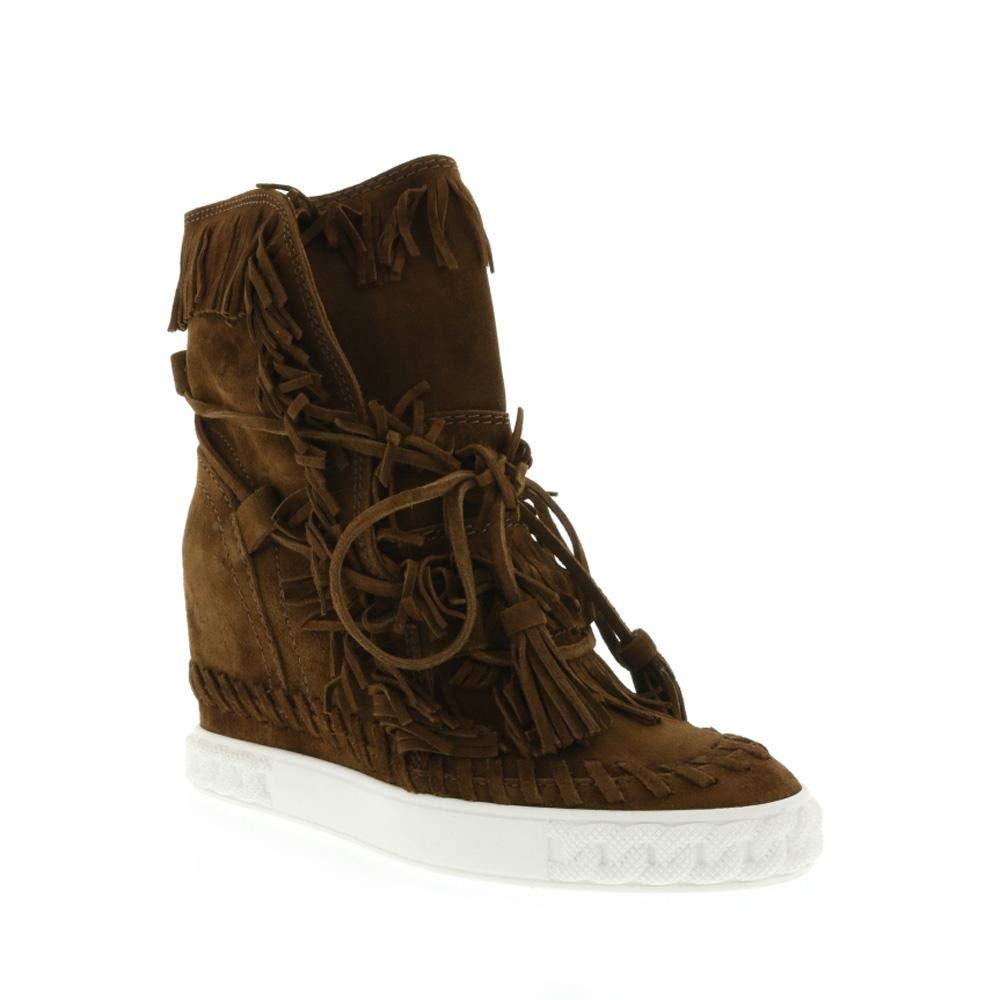 55d86601660 Amazon.com  Casadei Camel Indie Fringe Sneaker Size 40  Shoes
