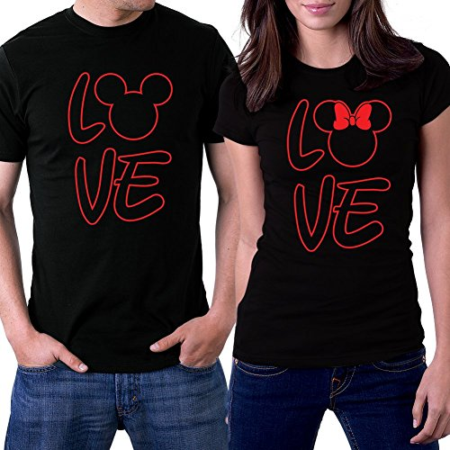 picontshirt Love mm Black Couple T-Shirts
