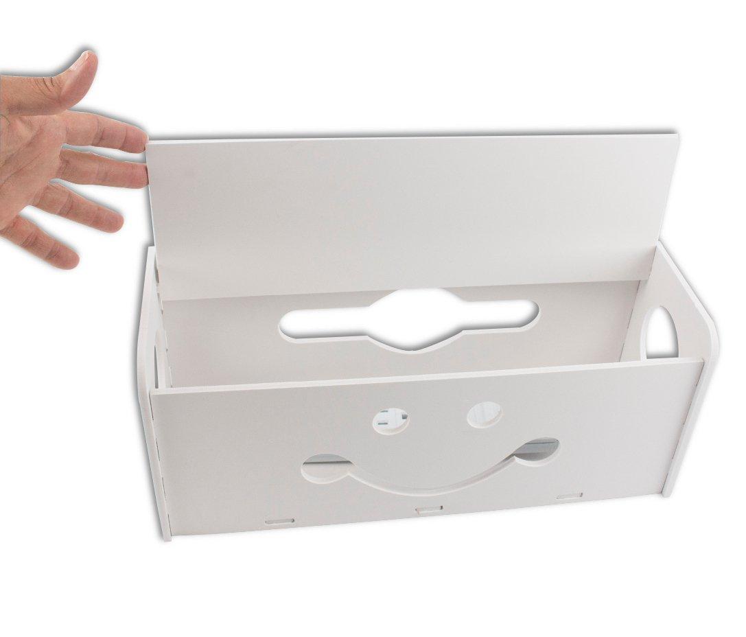 Amazon.com: Cable Management Box Organizer Decorative Large with 4 ...