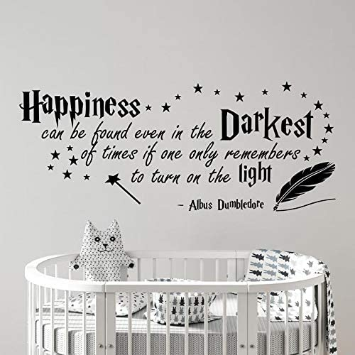 Harry Potter V033 Sticker mural avec citation Happiness Albus Dumbledore