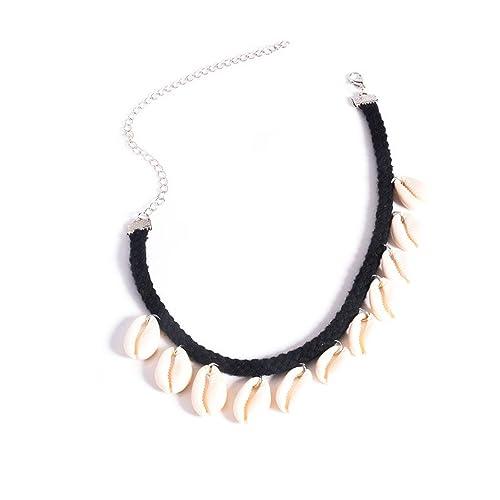 spedizione gratuita e4516 00c2b La Rose Elégante - Collana girocollo da donna con ciondoli a forma di  conchiglie, stile semplice