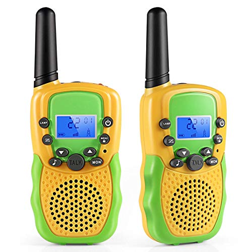 Cakie Walkie Talkies for Kids, 22 Channel FRS/GMRS 2 Way Radio (up to 3.7 Miles) UHF Hand-held Toys for Boys and Girls Age 3 4 5 6 7 8 9