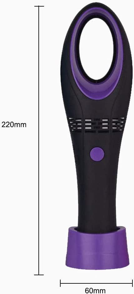 Lithium Battery Chenteshangmao Lightweight Portable Handheld USB Leafless Fan Color : Black Environmentally Friendly Material Three-Speed Wind Size: 6 5.8 22cm Portable Detachable Base