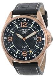 Torgoen Swiss Men's T25101 T25 GMT Rose-tone Date Aviation Watch