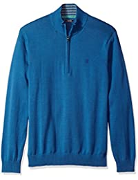 Men's Fine Gauge Solid 1/4 Zip Sweater