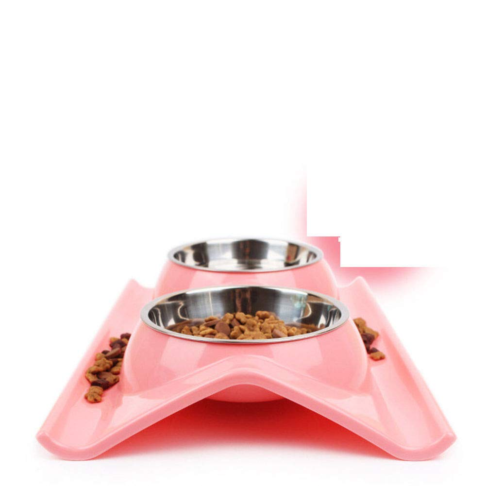 C Stainless Steel Double Bowl,Pet Feeding SuppliesD