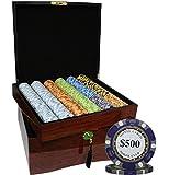 MRC 750pcs Monte Carlo Poker Club Casino Poker Chips Set with High Gloss Wood Case Custom Build