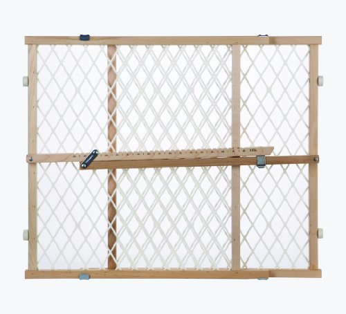 North States Industries Pressure Mount Diamond Mesh Wood Gate by North States - Shopping North Mall Gate