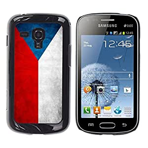 Be Good Phone Accessory // Dura Cáscara cubierta Protectora Caso Carcasa Funda de Protección para Samsung Galaxy S Duos S7562 // National Flag Nation Country Czech Republic