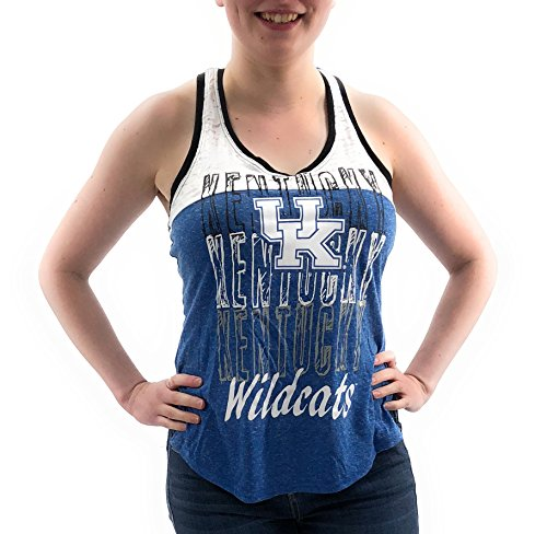 - Creative Apparel Women's NCAA UK Kentucky Wildcats Weathered Text Tank Top T shirt