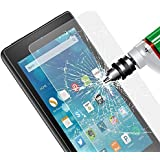 Fintie Tempered Glass Screen Protector for Fire HD 8 - [Scratch Resistant] Premium HD Clear [9H Hardness] for Amazon Fire HD 8 Inch Tablet (5th Generation 2015 / All-New 6th Generation 2016)