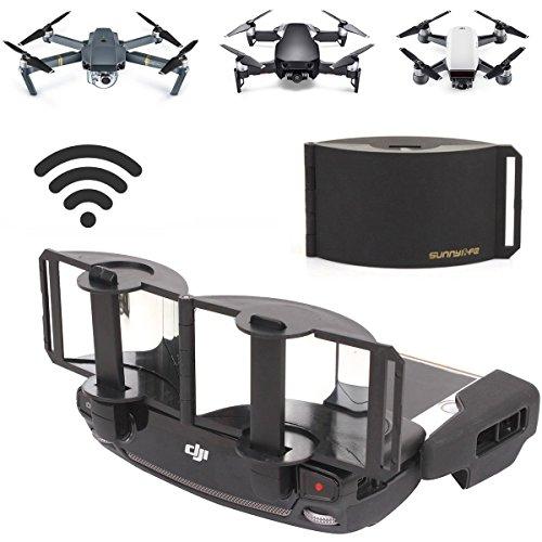 Drone Fans Mavic Pro Specular Range Extender Antenna Amplifier Foldable Parabolic Transmitter Controller Radar Signal Booster Extend for DJI Mavic Pro Drone Silver