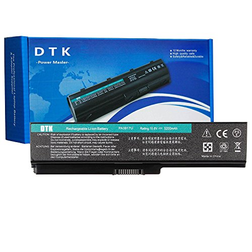 Dtk New Laptop Notebook Battery For Toshiba Computer PA3817U-1BRS PA3817U-1BAS PA3818U PA3819U-1BRS Select (1bas Notebook)