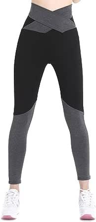 KINDOYO Womens Yoga Pants Sports Running Bandage Workout Dance Leggings Ladies Waist Straps Trousers