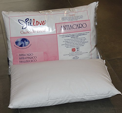 Pillove Cuscini.Pillove Children S Pillow For Cot Baby Bed Pure Cotton And Hypo