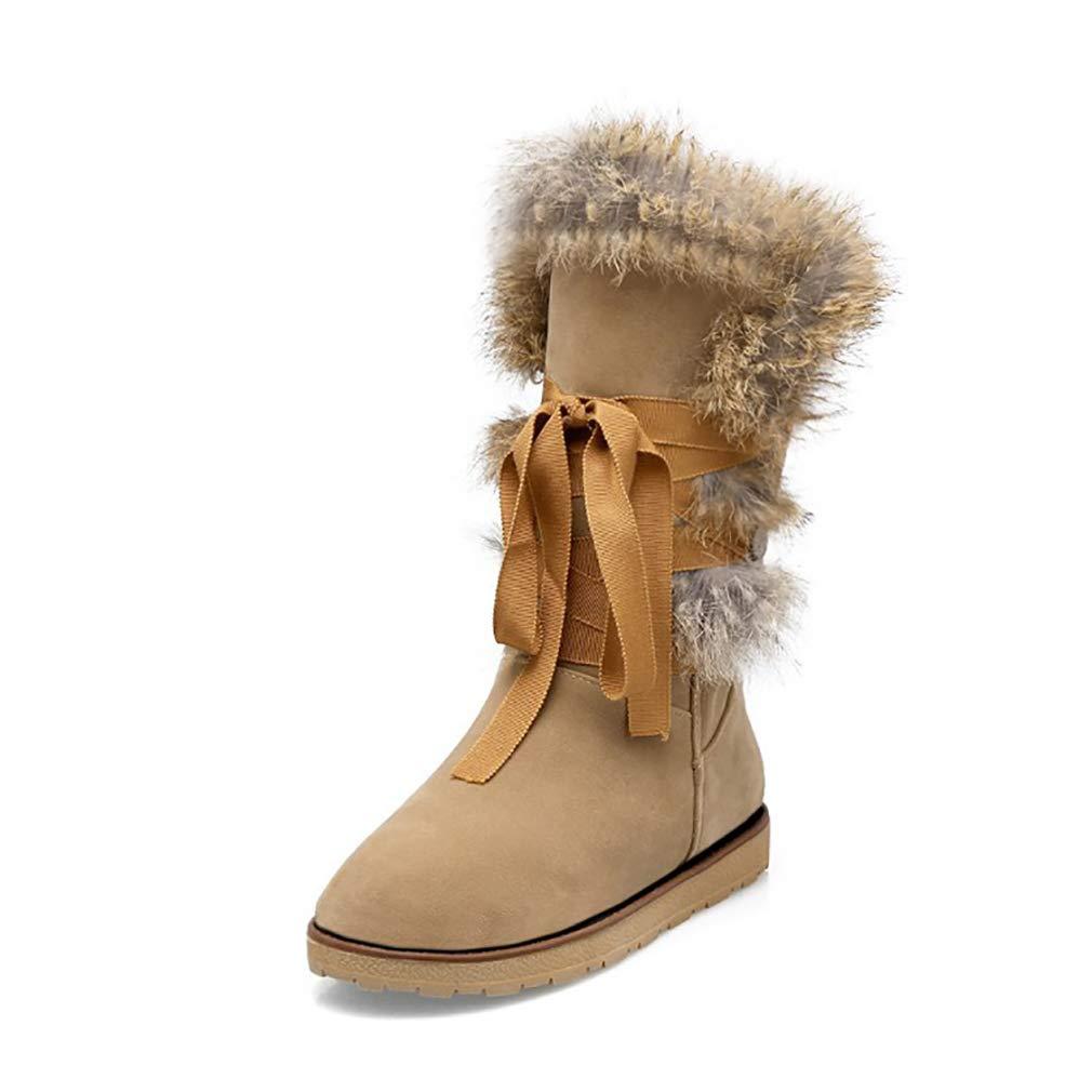 GTVERNH Frauen Schuhe7Cm High Heels Kurze Stiefel Gold