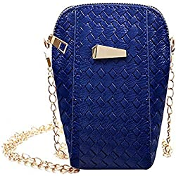 JD Million shop 2017 Women Messenger Bag Mini Handbag Slim Sequined PU Leather Weave Crossbody Shoulder Bags Purse 28S7719
