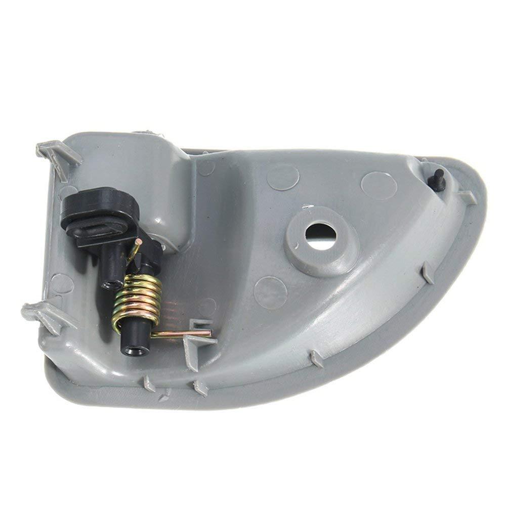DGdolph for Renault Kangoo Twingo Inner Door Handle Lens Front Left Grey Replacement Gray