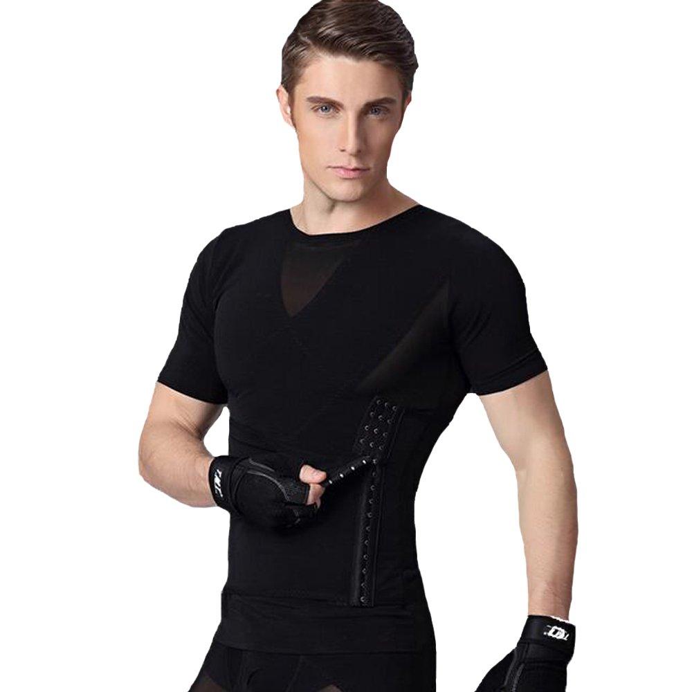 U-Pretty Herren Shapewear Schlank Bauch Hemd Body Shaper: Amazon.de:  Bekleidung