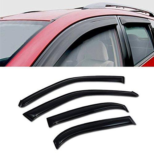 (for 1998-2002 Toyota Corolla 4 Door Sedan & 1998-2002 Chevrolet Prizm Models Sun/RAIN/Wind Guard Smoke Vent Shade Deflector Window Visor 4PCs)