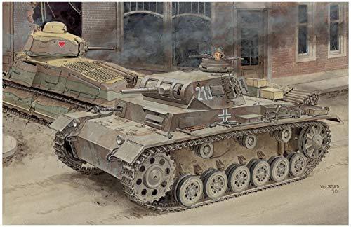 DRAGON 1/35 WWII German Army No.3 E/F 2in1 Plastic Model / DML6944 1:35 Dragon Panzer Pz.Kpfw.III Ausf.E/F (2in1) [Model Building KIT]