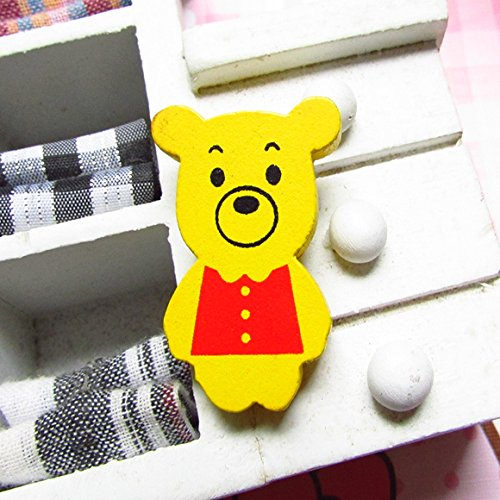 Fort love a variety of super cute wooden cartoon series for children and wind badge pin brooch 15010096