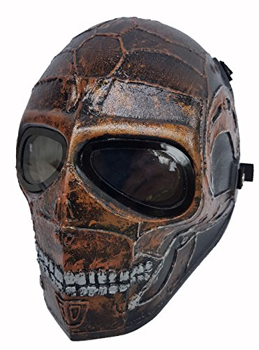 Airsoft Full Face Mask Army of two Cosplay Halloween mask Paintball Ghost Masks (Terminator)]()
