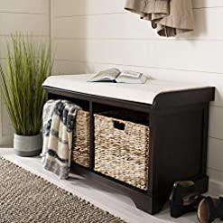Entryway Safavieh American Homes Collection Freddy Brown Wicker Storage Bench